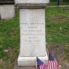 Photo taken at Paul Revere's Tomb by Bennett S. on 5/23/2014