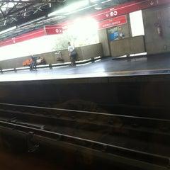 Photo taken at Estação Pedro II (Metrô) by Leonardo N. on 4/5/2013