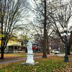 Photo taken at Woodruff Place Park by Historic I. on 11/7/2012