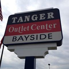 Photo taken at Tanger Outlet Center | Bayside by Elliott P. on 4/28/2012