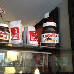 Photo taken at La Stazione Coffee & Wine Bar by Jen C. on 3/17/2012