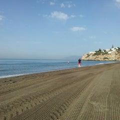 Photo taken at Playa Rincón de la Victoria by Ana G. on 7/7/2012
