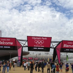 Photo taken at London 2012 Olympic Park by Stuart G. on 8/1/2012