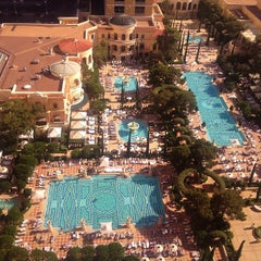 Photo taken at The Pool At Bellagio by Fredrik S. on 5/2/2013