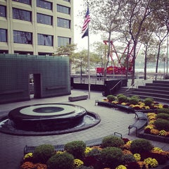 Photo taken at New York City Vietnam Veterans Memorial Plaza by Charley M. on 10/24/2012