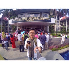 Photo taken at Embassy of the Republic of Indonesia by Brotoseno P. on 7/17/2015