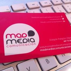 Photo taken at Mad Media Comunicación by Joaquín P. on 11/20/2012