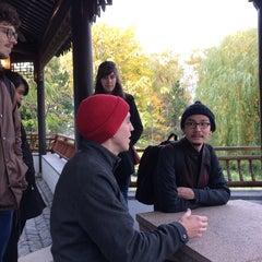 Photo taken at Chinese Scholars' Garden by Lauren G. on 11/13/2014