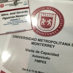 Photo taken at Universidad Metropolitana de Monterrey by Gerardo F. on 3/9/2015