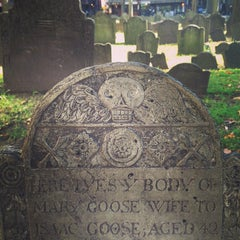 Photo taken at Granary Burying Ground by Moto O. on 12/24/2012