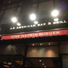 Photo taken at 5 Napkin Burger by Brad S. on 11/5/2012