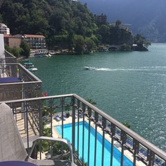 Photo taken at Hotel Lido Seegarten Lugano by Marisa P. on 8/25/2014