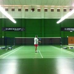 Photo taken at BJGCR Badminton Court by Kim Seng C. on 8/18/2013