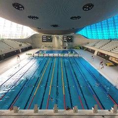Photo taken at London 2012 Aquatics Centre by James B. on 8/23/2014