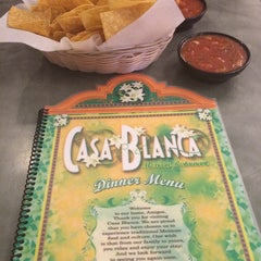 Photo taken at Casa Blanca Mexican Restaurant & Cantina by Brooke G. on 8/9/2014