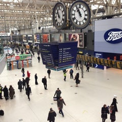 Photo taken at London Waterloo Railway Station (QQW) by Mitch E. on 12/13/2012