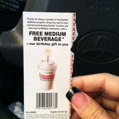 Photo taken at Dunkin' Donuts by Johnnilee D. on 10/11/2012