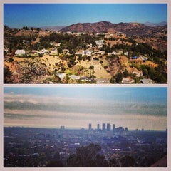 Photo taken at Fat Girl Hill at Runyon Canyon by Jaclyn on 12/24/2013