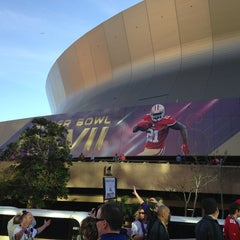 Photo taken at Mercedes-Benz Superdome by Michael C. on 2/3/2013