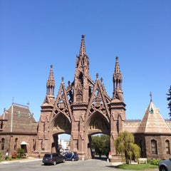 Photo taken at The Green-Wood Cemetery by Greg Y. on 5/5/2013