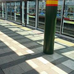 Photo taken at 신이문역 (Sinimun Station) by Manwoong L. on 4/24/2013