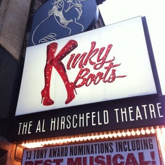 Photo taken at Kinky Boots at the Al Hirschfeld Theatre by Myra on 5/9/2013