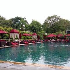 Photo taken at Pool Terrace Café & Bar by Sooyeon K. on 10/7/2012