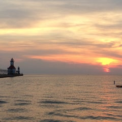 Photo taken at St. Joseph North Pier (at Tiscornia Park) by Michael G. on 6/28/2014