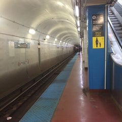 Photo taken at CTA - Grand (Blue) by Amy G. on 10/4/2014