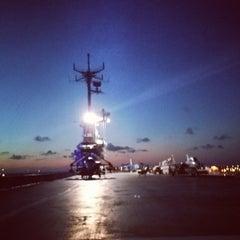 Photo taken at Beach by the USS Lexington by Jennifer K. on 7/13/2014