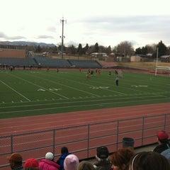 Photo taken at Garry Berry Stadium by Naomi T. on 3/21/2013
