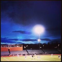 Photo taken at Garry Berry Stadium by Naomi T. on 4/19/2014