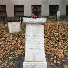 Photo taken at Paul Revere's Tomb by Michael P. on 11/8/2015