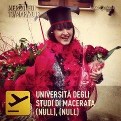 Photo taken at Università degli Studi di Macerata by Michi D. on 3/13/2013