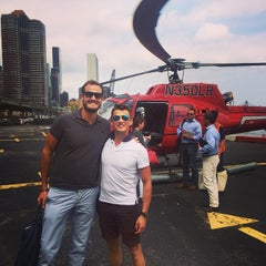 Photo taken at East 34th Street Heliport (TSS) by Brian K. on 8/22/2014