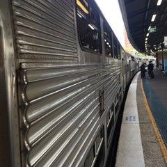 Photo taken at Strathfield Station (Platforms 7 & 8) by Steve F. on 7/7/2015