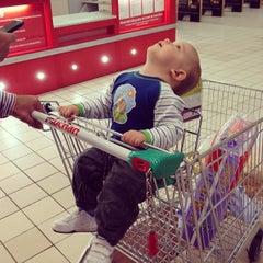 Photo taken at Auchan Fehér tó by Judit B. on 10/10/2013