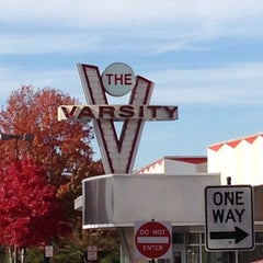 Photo taken at The Varsity by Pam A. on 11/8/2014