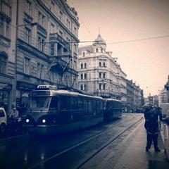 Photo taken at Strossmayerovo náměstí (tram) by Tigra . on 5/10/2013