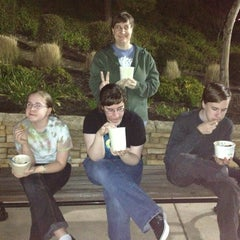 Photo taken at NuYo Frozen Yogurt by Mike B. on 3/16/2013