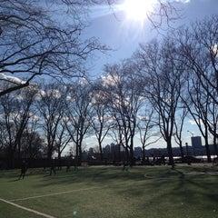 Photo taken at 101 Street Soccer Field by Nancy K. on 4/9/2014