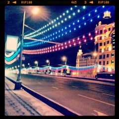 Photo taken at Большой Каменный мост / Bolshoy Kamenny Bridge by Илья С. on 12/22/2012