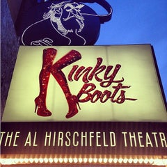 Photo taken at Kinky Boots at the Al Hirschfeld Theatre by Christine B. on 5/11/2013