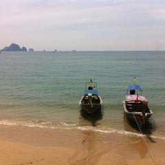 Photo taken at Ao Nang Goodview by Victor R. on 2/1/2014