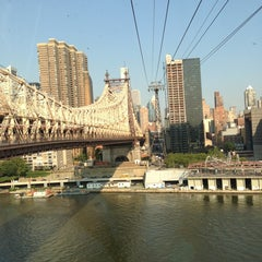 Photo taken at Roosevelt Island Tram by Tim S. on 8/21/2013