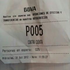 Photo taken at BBVA Oficina by Ese pepino oé on 10/31/2012