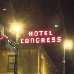 Photo taken at The Hotel Congress by Gary M. on 1/10/2013