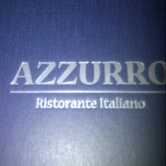 Photo taken at Azzurro Ristorante Italiano by Shahaira L. on 10/5/2012