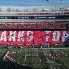 Photo taken at Memorial Stadium by Megan F. on 11/17/2012