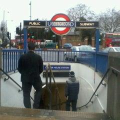 Photo taken at Manor House London Underground Station by Neymara C. on 1/28/2013